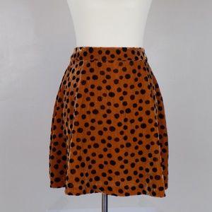 NWT madewell velvet leopard spots skirt 4